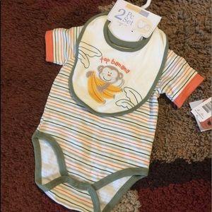 Boy Newborn Two Piece Onesie